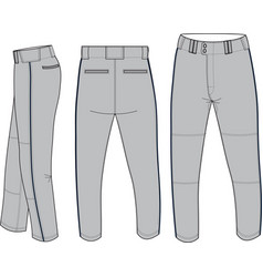Baseball relaxed fit pant vector