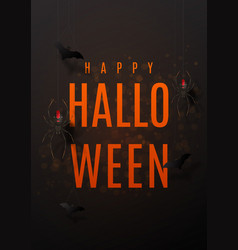 Beautiful black greeting poster for halloween vector