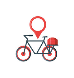 bicycle vehicle with pin location vector image