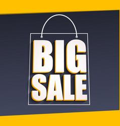 Big sale advertisement vector