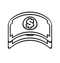 Bill money dollar cash icon line vector