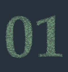 Binary code vector image