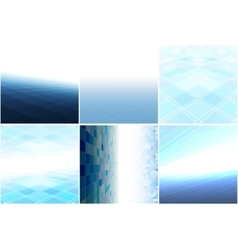Blue backgrounds with perspective vector