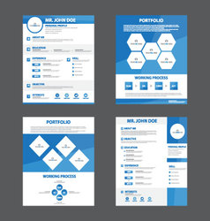 blue creative resume business profile CV vitae vector image