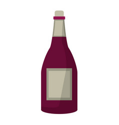 Bottle wine alcohol drink vector