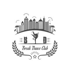 break dance club logotype vector image