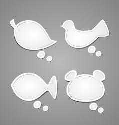 Bubble for speech Nature set vector image