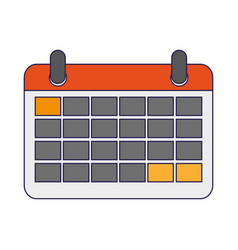 calendar planner symbol isolated vector image