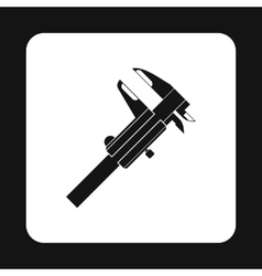 Caliper icon simple style vector