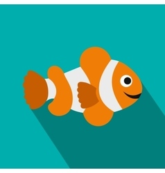 Clownfish flag icon flat style vector