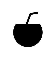 coconut drink icon vector image