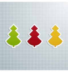 Colored Fir-Trees Set of Three vector image