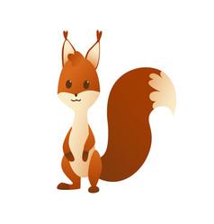cute cartoon squirrel sweet friendly animal vector image