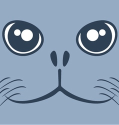 Dog seal face vector image