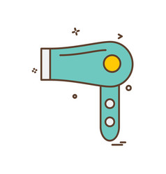 dryer icon design vector image