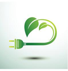 eco plug vector image