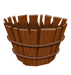 Empty basket isolated on white background vector