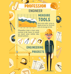 engineer or builder man industrial tools vector image