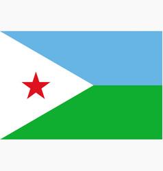 flag djibouti vector image