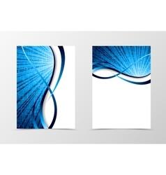 Flyer template spectrum design vector