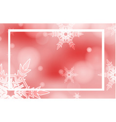 Frame template design with snowflakes on red vector