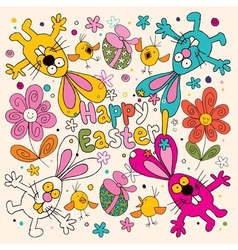 Happy Easter card 3 vector image