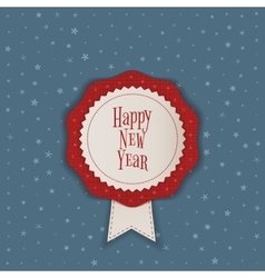 Happy New Year realistic Banner with Ribbon vector image vector image