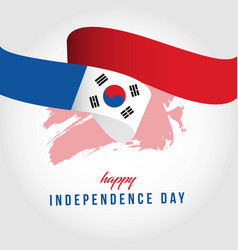Happy south korea independent day template design vector