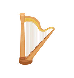 Harp string musical instrument vector