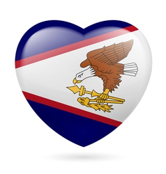 Heart icon of American Samoa vector