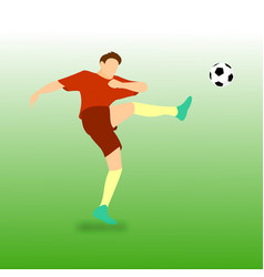 High kick football soccer player vector