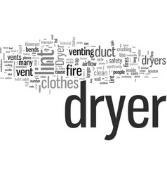 How to prevent clothes dryer fires vector