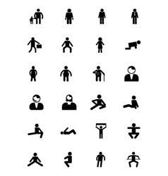 Human icons 5 vector