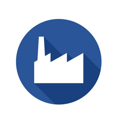 industrial factory flat icon vector image