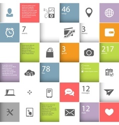 Infographic squares template vector image