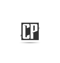 initial letter cp logo template design vector image
