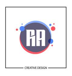 initial letter ra logo template design vector image
