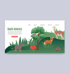 inscription south america colorful web banner vector image