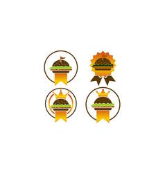 King burger template set vector