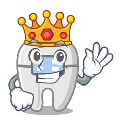 King toys braces in mascot box vector