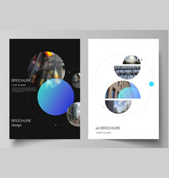 layout of a4 format modern cover mockups vector image