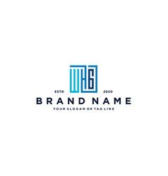 Letter whg square logo design vector