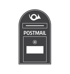 Mail box outline icon vector