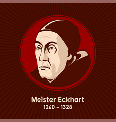 Meister eckhart was a german theologian philosoph vector