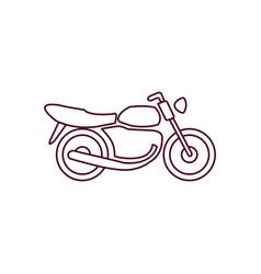 motorbike line icon vector image