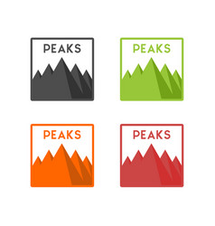 mountain with five peaks vector image