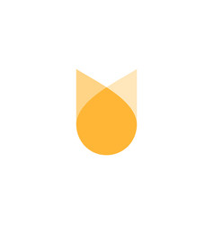oil drop flower logo icon vector image
