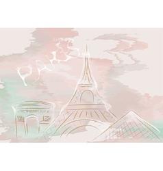 Paris abstract skyline vector