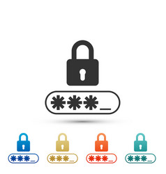 password protection icon on white background vector image