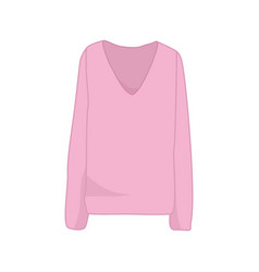 pink long sleeve sweater fashion style item design vector image